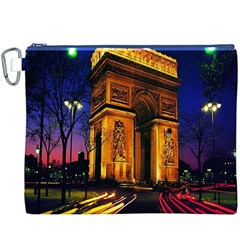 Paris Cityscapes Lights Multicolor France Canvas Cosmetic Bag (XXXL)