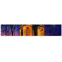 Paris Cityscapes Lights Multicolor France Flano Scarf (Large)