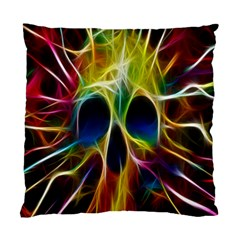 Skulls Multicolor Fractalius Colors Colorful Standard Cushion Case (Two Sides)