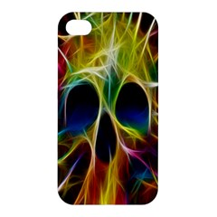 Skulls Multicolor Fractalius Colors Colorful Apple Iphone 4/4s Premium Hardshell Case