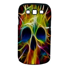 Skulls Multicolor Fractalius Colors Colorful Samsung Galaxy S Iii Classic Hardshell Case (pc+silicone)