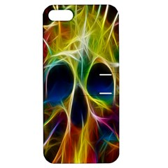 Skulls Multicolor Fractalius Colors Colorful Apple iPhone 5 Hardshell Case with Stand