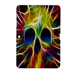 Skulls Multicolor Fractalius Colors Colorful Samsung Galaxy Tab 2 (10.1 ) P5100 Hardshell Case