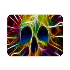 Skulls Multicolor Fractalius Colors Colorful Double Sided Flano Blanket (Mini)