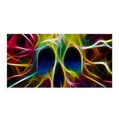 Skulls Multicolor Fractalius Colors Colorful Satin Wrap