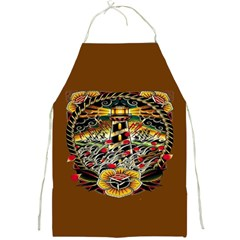 Tattoo Art Print Traditional Artwork Lighthouse Wave Full Print Aprons