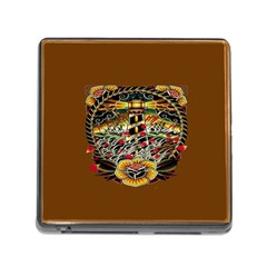 Tattoo Art Print Traditional Artwork Lighthouse Wave Memory Card Reader (square)