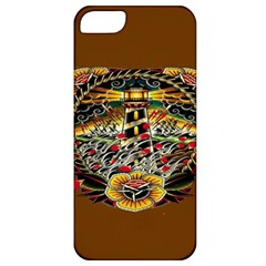 Tattoo Art Print Traditional Artwork Lighthouse Wave Apple iPhone 5 Classic Hardshell Case