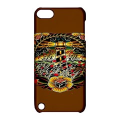 Tattoo Art Print Traditional Artwork Lighthouse Wave Apple iPod Touch 5 Hardshell Case with Stand