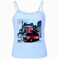 London Bus Baby Blue Spaghetti Tank