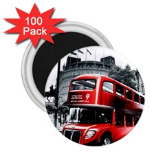 London Bus 2.25  Magnets (100 pack)