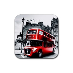 London Bus Rubber Square Coaster (4 pack)