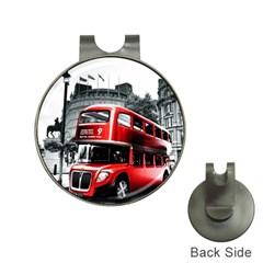 London Bus Hat Clips with Golf Markers
