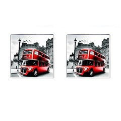 London Bus Cufflinks (Square)