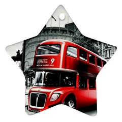 London Bus Star Ornament (Two Sides)