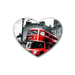 London Bus Heart Coaster (4 pack)