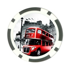 London Bus Poker Chip Card Guard