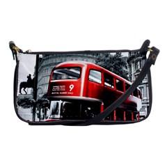 London Bus Shoulder Clutch Bags