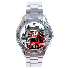 London Bus Stainless Steel Analogue Watch