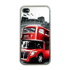 London Bus Apple iPhone 4 Case (Clear)