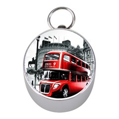 London Bus Mini Silver Compasses