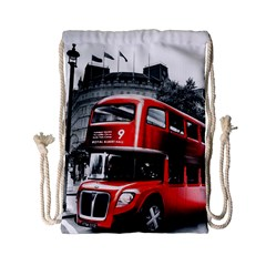 London Bus Drawstring Bag (Small)