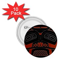 Traditional Northwest Coast Native Art 1.75  Buttons (10 pack)