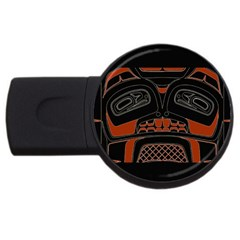 Traditional Northwest Coast Native Art USB Flash Drive Round (2 GB)