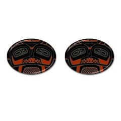 Traditional Northwest Coast Native Art Cufflinks (Oval)