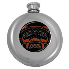 Traditional Northwest Coast Native Art Round Hip Flask (5 oz)