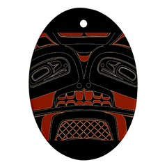 Traditional Northwest Coast Native Art Oval Ornament (Two Sides)