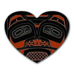 Traditional Northwest Coast Native Art Heart Mousepads