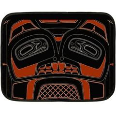 Traditional Northwest Coast Native Art Fleece Blanket (mini)