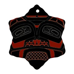 Traditional Northwest Coast Native Art Snowflake Ornament (Two Sides)