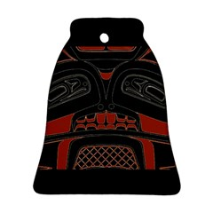 Traditional Northwest Coast Native Art Bell Ornament (two Sides)