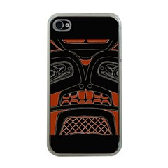 Traditional Northwest Coast Native Art Apple iPhone 4 Case (Clear)