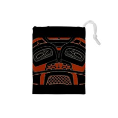 Traditional Northwest Coast Native Art Drawstring Pouches (Small)