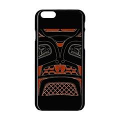 Traditional Northwest Coast Native Art Apple Iphone 6/6s Black Enamel Case