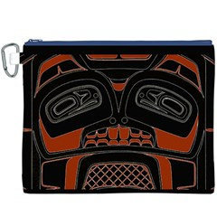 Traditional Northwest Coast Native Art Canvas Cosmetic Bag (XXXL)