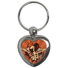 Rock Music Moves Me Key Chains (Heart)