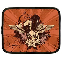Rock Music Moves Me Netbook Case (large)