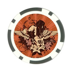 Rock Music Moves Me Poker Chip Card Guard (10 Pack)
