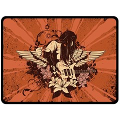 Rock Music Moves Me Fleece Blanket (Large)