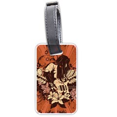 Rock Music Moves Me Luggage Tags (one Side)