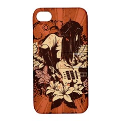 Rock Music Moves Me Apple iPhone 4/4S Hardshell Case with Stand