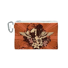 Rock Music Moves Me Canvas Cosmetic Bag (S)