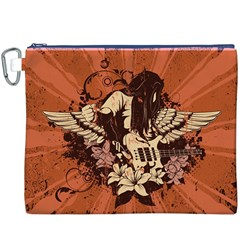 Rock Music Moves Me Canvas Cosmetic Bag (XXXL)