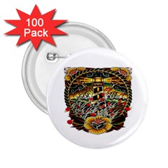 Tattoo Art Print Traditional Artwork Lighthouse Wave 2.25  Buttons (100 pack)