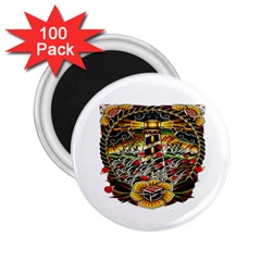 Tattoo Art Print Traditional Artwork Lighthouse Wave 2.25  Magnets (100 pack)