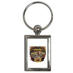 Tattoo Art Print Traditional Artwork Lighthouse Wave Key Chains (rectangle)